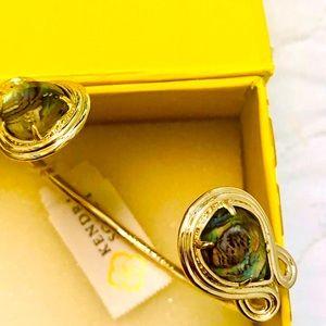 NWT Kendra Scott Andy Bracelet Abalone & Yellow G